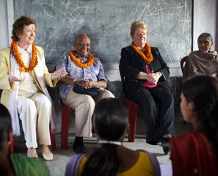 Mary Robinson, Desmond Tutu, Gro Harlem Brundtland and Ela Bhatt
