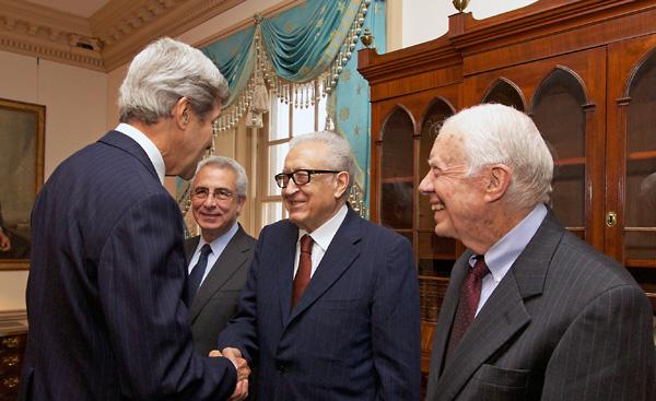 The Elders meeting with John Kerry in 2013.