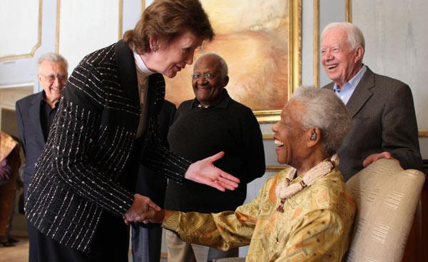 Mary Robinson and Nelson Mandela
