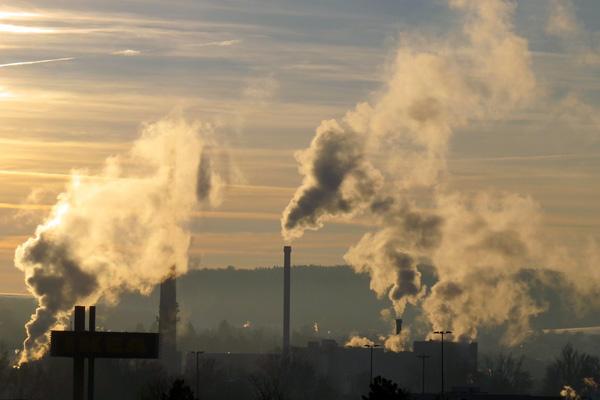 Smoking industrial chimneys