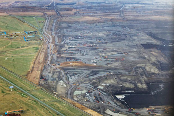 Shengli open-cast coal mine in Xilinhot, Inner Mongolia