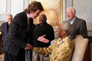 Mary Robinson, Neslon Mandela, Jimmy Carter, Desmond Tutu and Lakhdar Brahimi