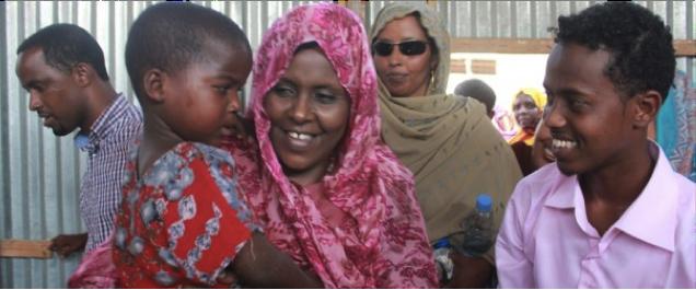 Asha Haji Elmi at a SSWC centre in Somalia
