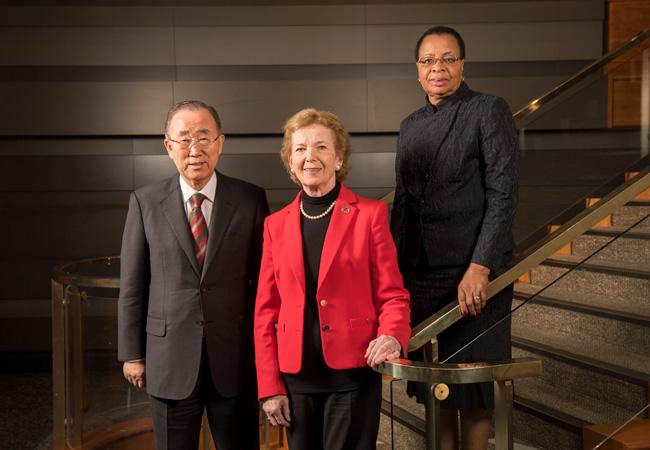 Ban Ki-Moon, Mary Robinson and Graça Machel