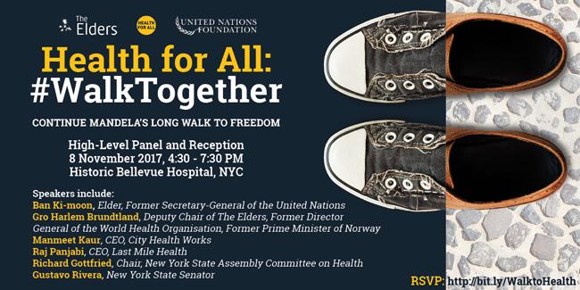 #WalkTogether for health on 8 November