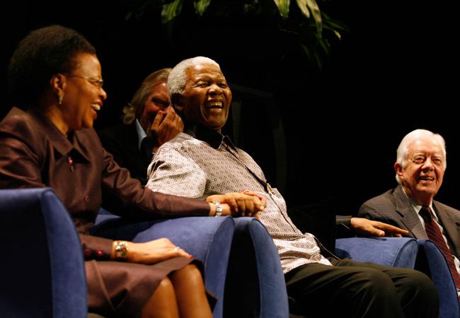 Graça Machel, Nelson Mandela and Jimmy Carter