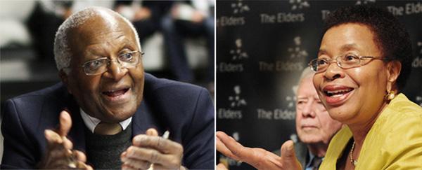 Desmond Tutu and Graca Machel