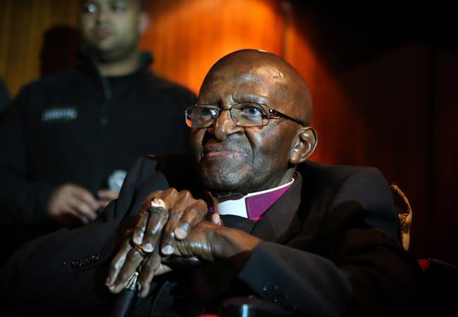 Desmond Tutu at the 6th Annual Desmond Tutu Peace Lecture in October 2016 (Credit: Desmond and Leah Tutu Legacy Foundation / Sumaya Hisham)