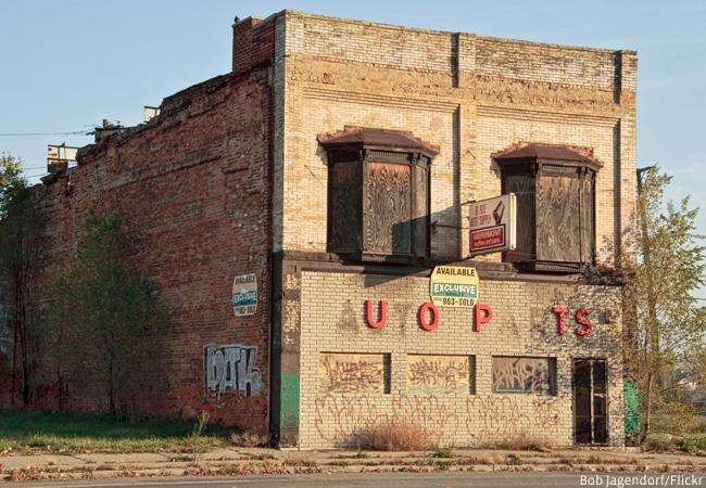 Derelict building in Detroit, USA (Credit: Bob Jagendorf/Flickr)