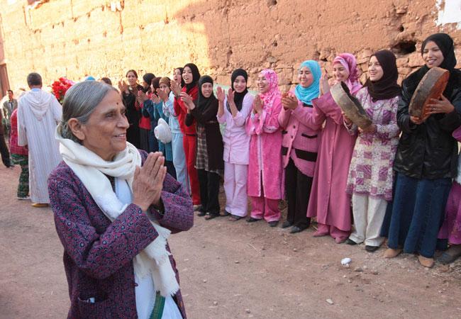 Ela Bhatt in Morocco during an Elders Board Meetingin May 2009