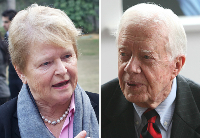 Gro Brundtland and Jimmy Carter