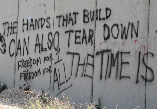 Graffiti on Israeli Separation Wall (Credit: Muath Khatib | The Elders)