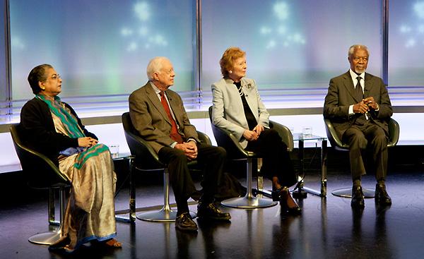 Kofi Annan, Jimmy Carter, Mary Robinson and Hina Jilani
