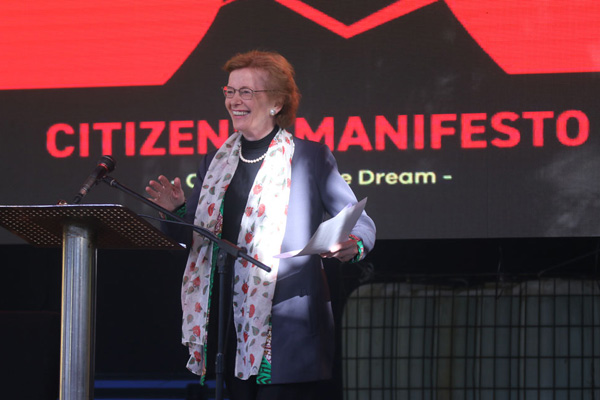 Mary Robinson at Citizen Manifesto