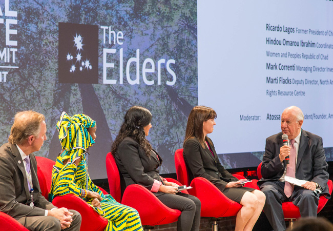 Ricardo Lagos at the Global Climate Action Summit (Credit: Bob Stender)