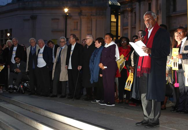 Kofi Annan Speech Trafalgar Square
